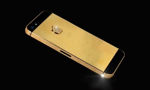 iPhone 5 de oro puro y diamantes