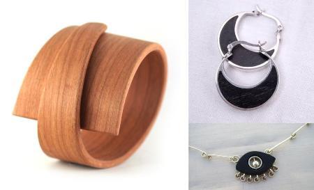 Joyas con elementos de poco valor como la madera