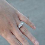 La medida del anillo de compromiso